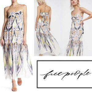 Free People Strapless Mojave Maxi Dress Back Tie